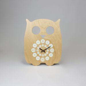 Horloge murale – Hiboo blanc