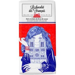 Chocolat noir et éclats de fèves de cacao – Notre dame