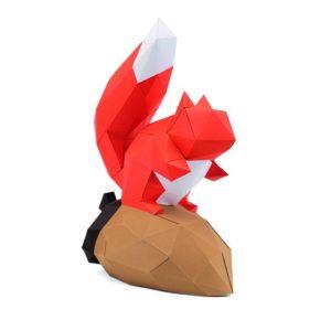 Gédéon l'écureuil en papier 3d
