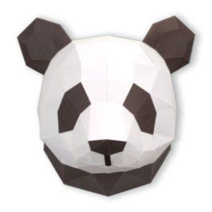 Petit panda en papier 3D – Chocolat