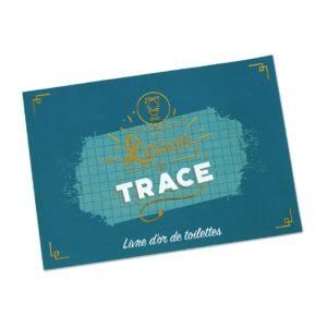 """Livre d'or toilette """"Laisse ta trace"""""""