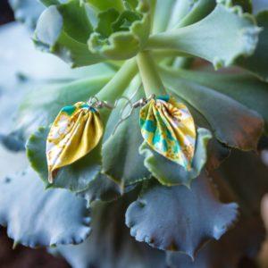 Boucles d'oreilles – Petites feuilles origami