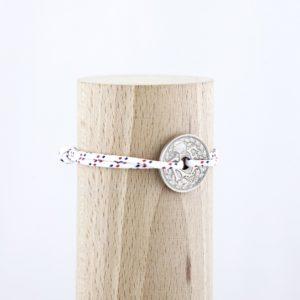 10 Cts – Bracelet paracorde – Le navigateur blanc