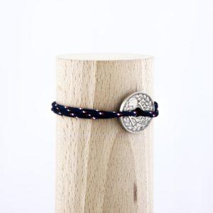 10 Cts – Bracelet paracorde – Le navigateur bleu