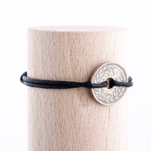 10 Cts – Bracelet cuir noir