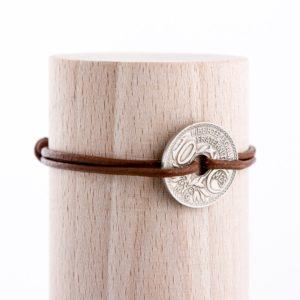10 Cts – Bracelet cuir naturel