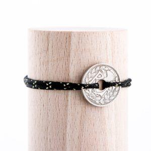 10 Cts – Bracelet paracorde – Noir/doré