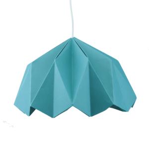 Lampe origami en papier – Bleu canard