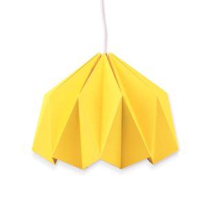 Lampe origami en papier – Jaune