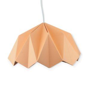 Lampe origami en papier – Abricot