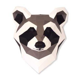 Raton laveur en papier 3D