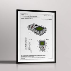 Affiche de brevet – Game Boy
