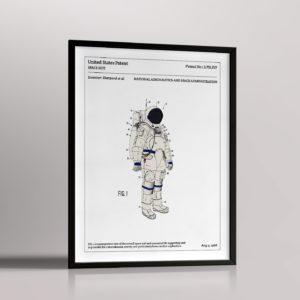 Affiche de brevet – Combinaison d'astronaute