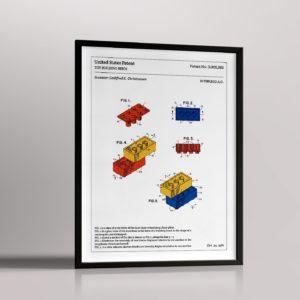 Affiche de brevet – Briques LEGO