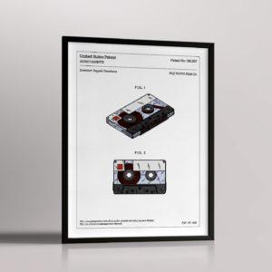 Affiche de brevet – Cassette audio