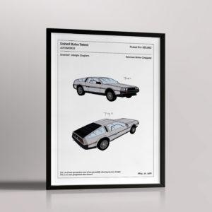 Affiche de brevet – Delorean