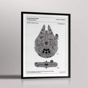 Affiche de brevet – Faucon Millénium