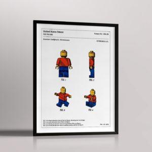 Affiche de brevet – Figurine LEGO