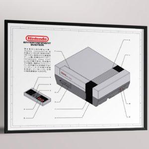 Affiche de brevet – Nintendo NES