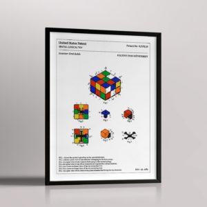 Affiche de brevet – Rubik's cube