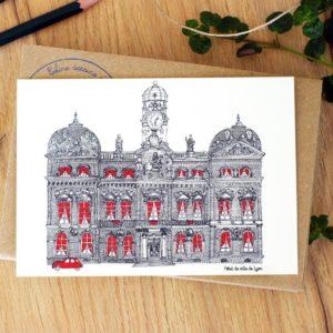 Lyon Hotel de Ville – Affiche ou carte