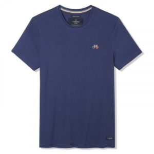 Baptiste – T-shirt vélo brodé bleu