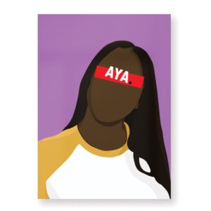 Aya Nakamura – Affiche 30×40