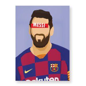 Lionel Messi – Affiche 30×40