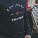 David – Sweat gentleman français bleu