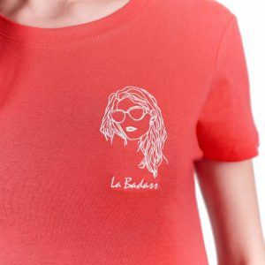 La Badass – T-shirt corail