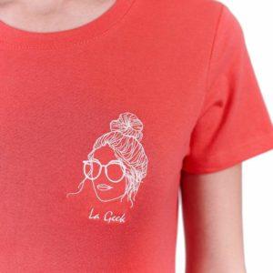 La Geek – T-shirt corail