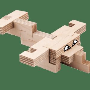 L'avion – Jeu en bois à assembler