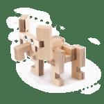 L'éléphant – Jeu en bois à assembler