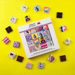 Coffret – 32 carrés de chocolat