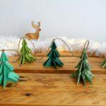 Guirlande de sapins en origami