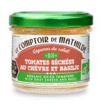 Les tartinables – Tomates séchées chèvre et basilic BIO