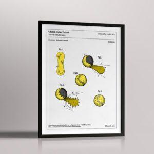 Affiche de brevet – Balle de tennis