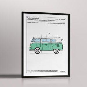 Affiche de brevet – Combi Volkswagen