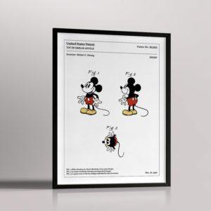Affiche de brevet – Mickey Mouse