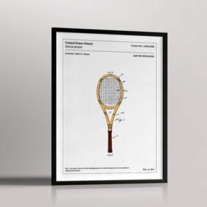 Affiche de brevet – Raquette de tennis