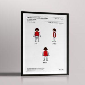 Affiche de brevet – Playmobil