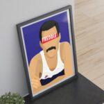 Freddie Mercury – Affiche 30×40