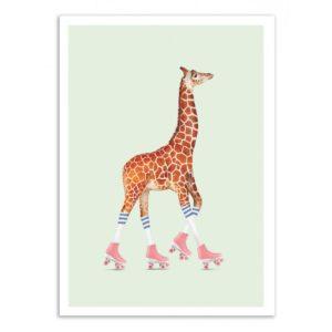 Giraffe Roller – Affiche 30 X 40