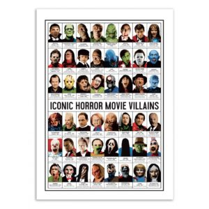 Iconic horror movies vilains – Affiche 30 X 40