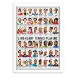 Joueurs de tennis – Affiche 30 X 40