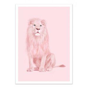 Lion Rose – Affiche 30 X 40