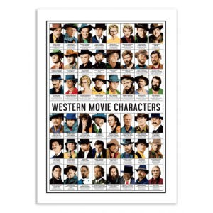 Western movie – Affiche 30 X 40