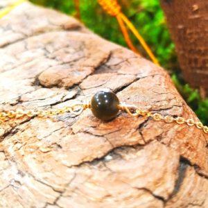 Bracelet Obsidienne œil