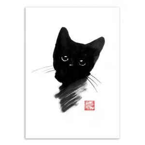 Kitty black – Affiche 30 X 40