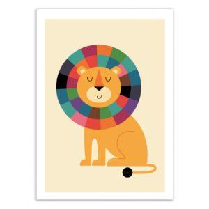 Lion confidence – Affiche 30 X 40